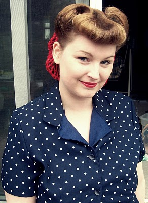 hair style vintage how to guides victory rolls wartime « Skirting The ...
